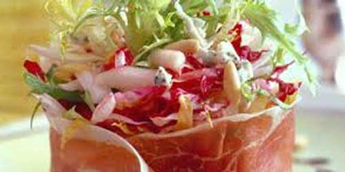 Salade d'endives, granny smith et jambon cru