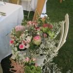 chaise en fleurs