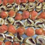 Plateau de blinis au saumon et de toast chèvre/miel