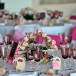 mariage retro centre de table