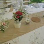 fleur centre de chemin de table